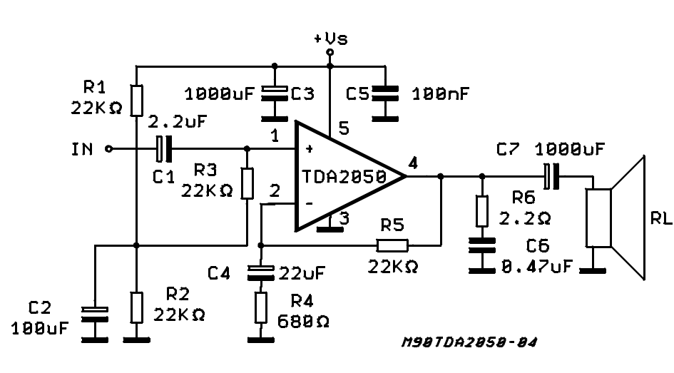 TDA 2050 Amplifier Circuit – DOING IT YOURSELF